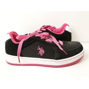 US Polo Assn. | Pink & Black Shoes